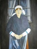 Obraz do salonu artysty Antoni Zaborowski pod tytułem Pani Mariola II