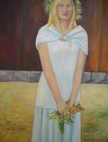 Obraz do salonu artysty Antoni Zaborowski pod tytułem Blondynka