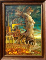 Obraz do salonu artysty Jarosław Jaśnikowski pod tytułem Bogini z kuźni Wulkana