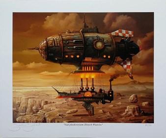 Living room print by Jarosław Jaśnikowski titled Above the Golden Winds plateau