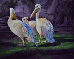 Obraz do salonu artysty Anna Pszonka pod tytułem Narada