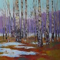 Obraz do salonu artysty Daniel Gromacki pod tytułem Wiosna w Puszczy. Brzozy.