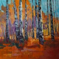 Obraz do salonu artysty Daniel Gromacki pod tytułem Jesień w Puszczy. Brzozy.