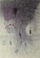 Obraz do salonu artysty Lech Pierchała pod tytułem Wampirzyca I