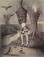 Obraz do salonu artysty Lech Pierchała pod tytułem Wielka Łowczyni
