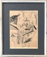 Grafika do salonu artysty Leon Wyczółkowski pod tytułem Kazimierz nad Wisłą