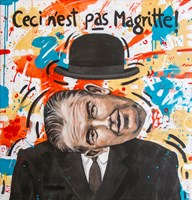 Obraz do salonu artysty Grzegorz Kufel pod tytułem To nie jest Magritte!