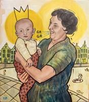 Obraz do salonu artysty Grzegorz Kufel pod tytułem Król i ciotka Zdzisława