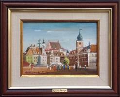 Obraz do salonu artysty Ryszard  Gbiorczyk pod tytułem Plac Zamkowy