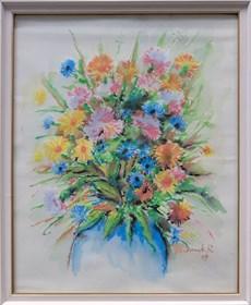 Obraz do salonu artysty Ryszard Gbiorczyk pod tytułem Kwiaty