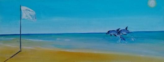 Obraz do salonu artysty Barbara Lis pod tytułem Biała flaga