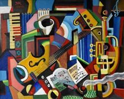 Obraz do salonu artysty Janusz Reszka pod tytułem Kompozycja muzyczna