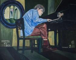Obraz do salonu artysty Tomasz Mrozowski pod tytułem Partita II J.S.Bach