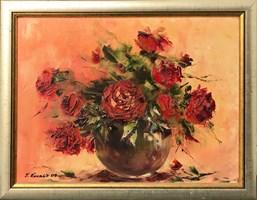 Living room painting by Jolanta  Kowalik titled Flowers