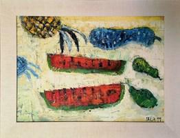 Obraz do salonu artysty Dariusz Pala pod tytułem Martwa natura z arbuzami