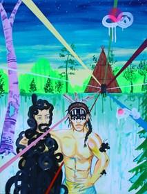 Obraz do salonu artysty Mariusz Drabarek pod tytułem ''Zaklinacz''