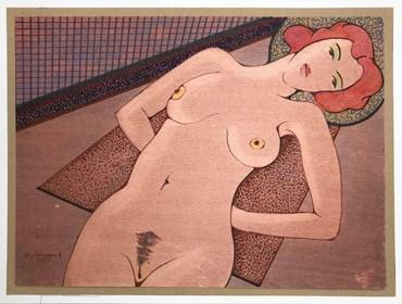 Obraz do salonu artysty Henryk Płóciennik pod tytułem Akt - bez tytułu 10