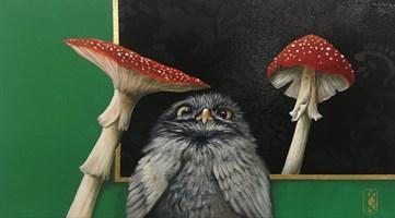 Living room painting by Katarzyna  Kaźmierczyk titled Owl