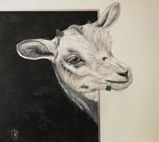 Obraz do salonu artysty Katarzyna  Kaźmierczyk pod tytułem Koza