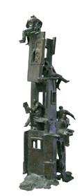 Rzeźba do salonu artysty Janusz Jędrzejowski pod tytułem Mieszkańcy