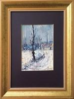 Obraz do salonu artysty Krzysztof  Gocek pod tytułem Zima
