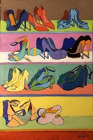 Living room painting by David Schab titled Glamour