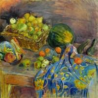 Living room painting by Dorota  Goleniewska-Szelągowska titled  Still life with pears