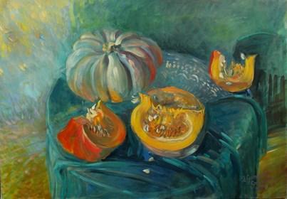 Living room painting by Dorota Goleniewska-Szelągowska titled  Autumn is not sad