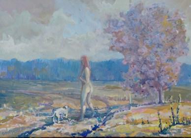 Obraz do salonu artysty Bogusław Piasecki pod tytułem spacer