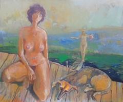 Obraz do salonu artysty Bogusław Piasecki pod tytułem Świeży dostawca winogron