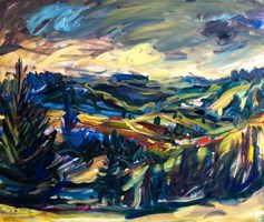 Living room painting by Iwona  Golor titled Tatry