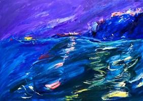 Obraz do salonu artysty Iwona  Golor pod tytułem Grecja nocą 5