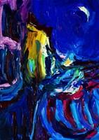 Obraz do salonu artysty Iwona  Golor pod tytułem Mariensztat nocą