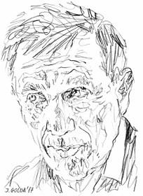 Obraz do salonu artysty Iwona Golor pod tytułem Jan Englert