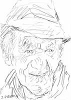 Obraz do salonu artysty Iwona  Golor pod tytułem Pan w kapeluszu