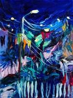 Obraz do salonu artysty Iwona  Golor pod tytułem Grecja nocą 4