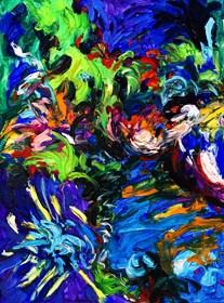 Obraz do salonu artysty Iwona Golor pod tytułem Park Narodowy Wysp Dziewiczych