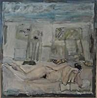 Obraz do salonu artysty Lidia Snitko-Pleszko pod tytułem akt w pejzażu