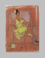 Obraz do salonu artysty Lidia Snitko-Pleszko pod tytułem kobieta w fotelu