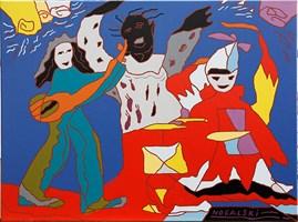 Obraz do salonu artysty Roman Eugeniusz Nogalski pod tytułem Tańczący z kapeluszem