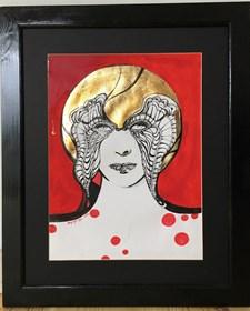 Obraz do salonu artysty Maggie Piu pod tytułem Szkic