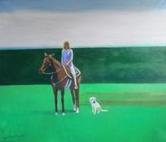 Obraz do salonu artysty Agata Baltyzar pod tytułem Kobieta na koniu
