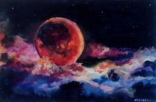 Obraz do salonu artysty Michał Kucharski pod tytułem Czerwony księżyc/Red moon
