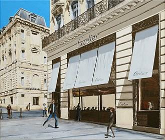 Obraz do salonu artysty Joanna Czajkowska pod tytułem  Nikt nie widzi martwego gołębia na Champs Elysees