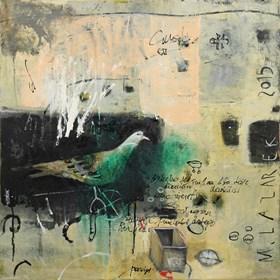 Obraz do salonu artysty Małgorzata Lazarek pod tytułem Gołąb