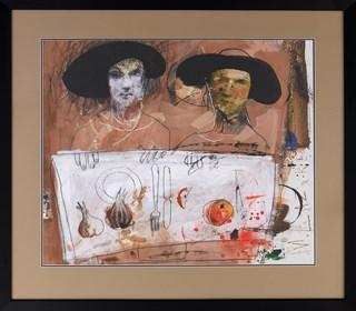 Obraz do salonu artysty Małgorzata Lazarek pod tytułem Postacie przy stole