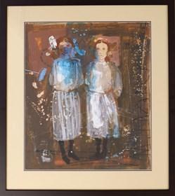 Obraz do salonu artysty Małgorzata Lazarek pod tytułem Bliźniaczki