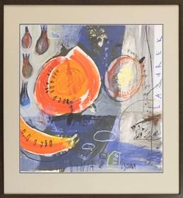 Obraz do salonu artysty Małgorzata Lazarek pod tytułem Dynia i sowa