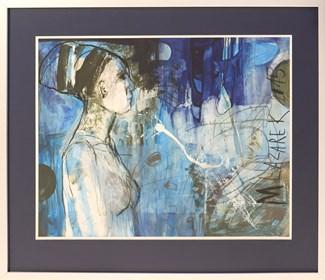 Obraz do salonu artysty Małgorzata Lazarek pod tytułem Kobieta profil