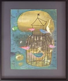 Obraz do salonu artysty Małgorzata Lazarek pod tytułem Ptasia klatka